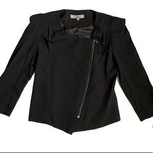 Chloe Asymmetrical Jacket Blazer Black Medium M
